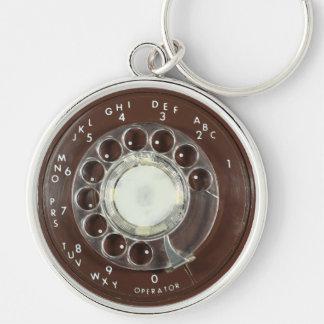 Rotary Phone Look Keychain