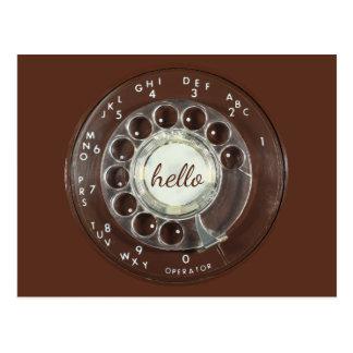 Rotary Phone Look Postcard