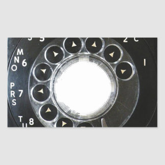 Rotary Phone Rectangle Sticker