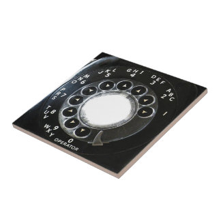Rotary Phone Small Square Tile