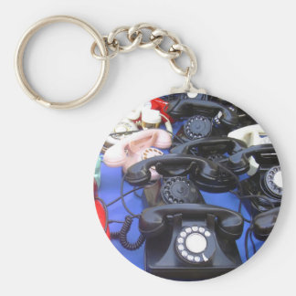Rotary Telephone Keychain