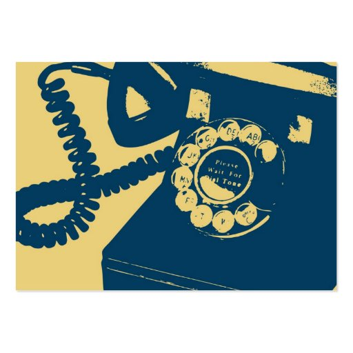 rotary telephone pop art large business card zazzle. Black Bedroom Furniture Sets. Home Design Ideas