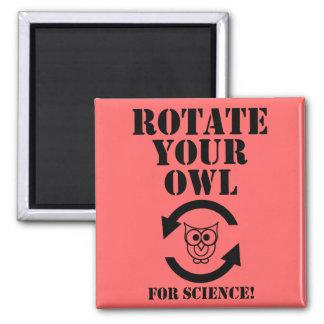 Rotate Your Owl Fridge Magnet