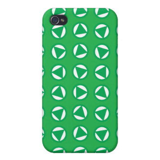 Rotating arrows blue green cover for iPhone 4