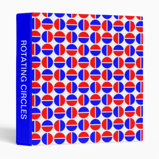 Rotating Circles (1in) Blue and Red 3 Ring Binder