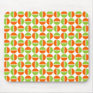 Rotating Circles - Green and Orange Mouse Pad