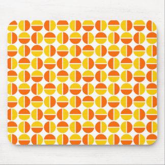 Rotating Circles - Orange and Amber Mouse Pad