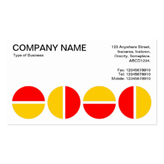 Rotating Circles - Red and Amber Double-Sided Standard Business Cards (Pack Of 100)