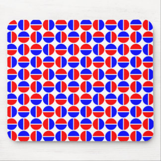 Rotating Circles - Red and Blue Mouse Pad
