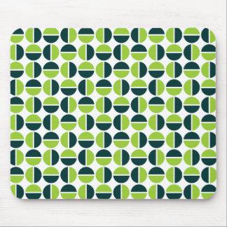 Rotating Circles - Shades of Green Mouse Pad