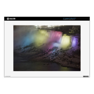 Rotating colored light display on American Falls Laptop Skins
