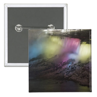 Rotating colored light display on American Falls Pinback Button