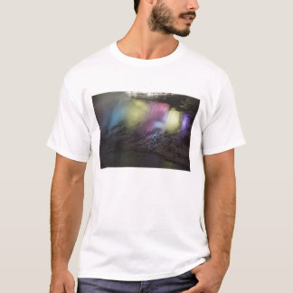 Rotating colored light display on American Falls T-Shirt