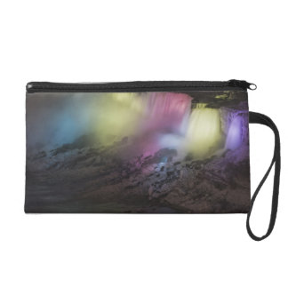 Rotating colored light display on American Falls Wristlet Purse