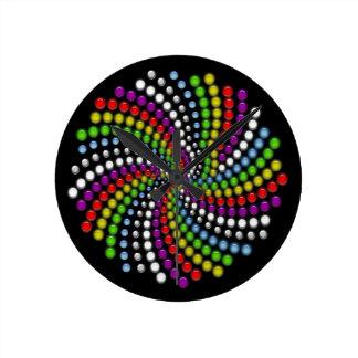 Rotating Digital Art Round Clock