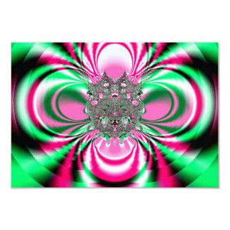 Rotating Flower Fractal Card
