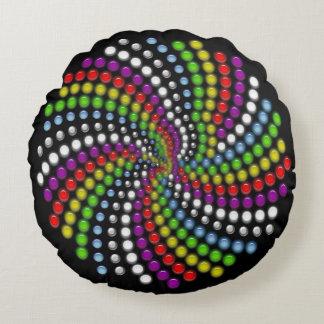 Rotating Modern Digital Art Round Pillow