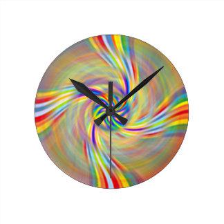 Rotating Rainbow Clock