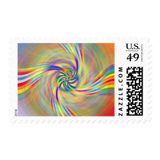 Rotating Rainbow Postage