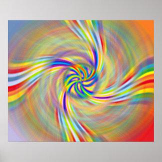 Rotating Rainbow Print
