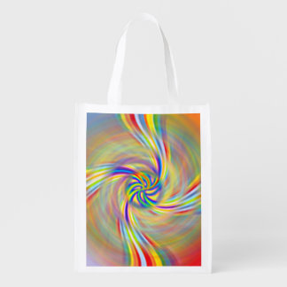 Rotating Rainbow Reusable Grocery Bag