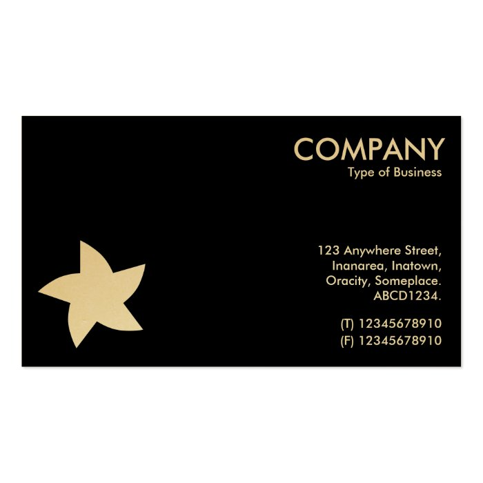 Rotating Star Symbol - Alternating Sides Business Card