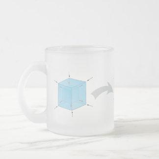 Rotating Tesseract Mug