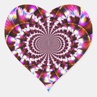 Rotational Heart Sticker