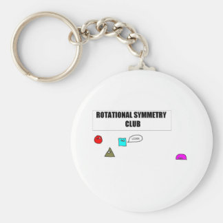Rotational Symmetry Basic Round Button Keychain