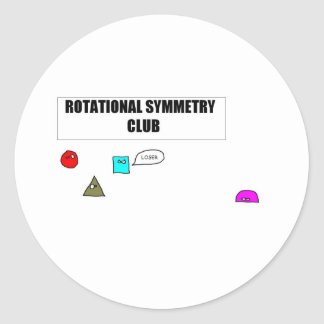 Rotational Symmetry Classic Round Sticker