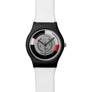 ROTATIONS | black white and red minimalist circles Wrist Watch