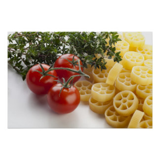 Rotelle Pasta and Ingredients Print