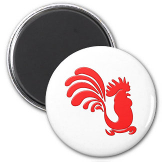 roter Hahn red rooster Magnete