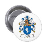 Roth Family Crest Pinback Buttons