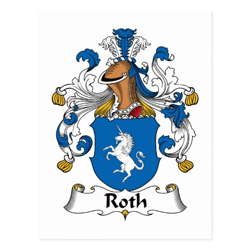 Roth Family Crest Postcard