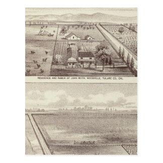 Roth, Scruggs ranches Postcard