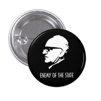 Rothbard Enemy Of The State Pinback Button