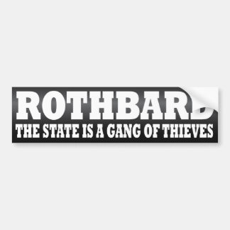 Rothbard Pegatina Para Auto