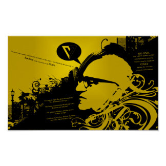 Rothbard w/ Quotes Poster