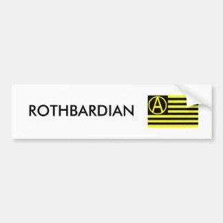 Rothbardian Pegatina Para Auto