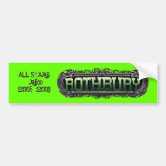 ROTHBURYLOGO_transparent, ALL STARS  RFB2008~20... Bumper Sticker