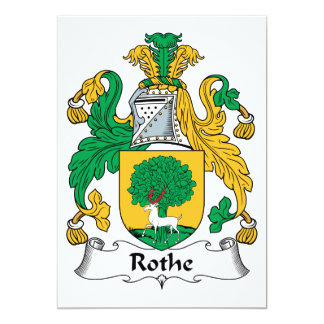 Rothe Family Crest Invitation