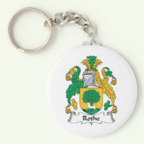 Rothe Family Crest Keychain