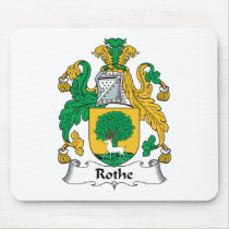 Rothe Family Crest Mousepad