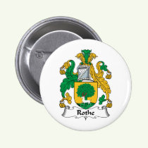 Rothe Family Crest Button