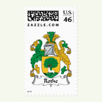 Rothe Family Crest Stamps