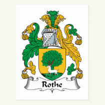 Rothe Family Crest Postcard