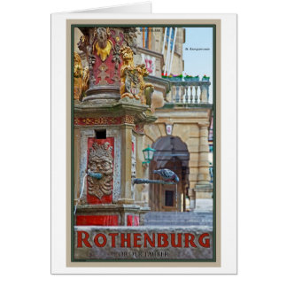 Rotheburg od Tauber - St George Fountain Greeting Card