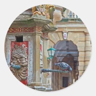 Rotheburg od Tauber - St George Fountain Classic Round Sticker