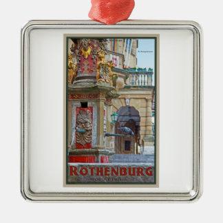 Rotheburg od Tauber - St George Fountain Metal Ornament